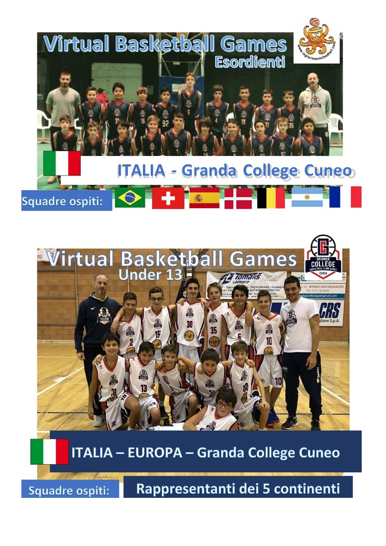 BASKETBALL OLTRE I CONFINI…   8 NATIONS and 6 CONTINENTS VBG (Virtual Basketball Games) CUP